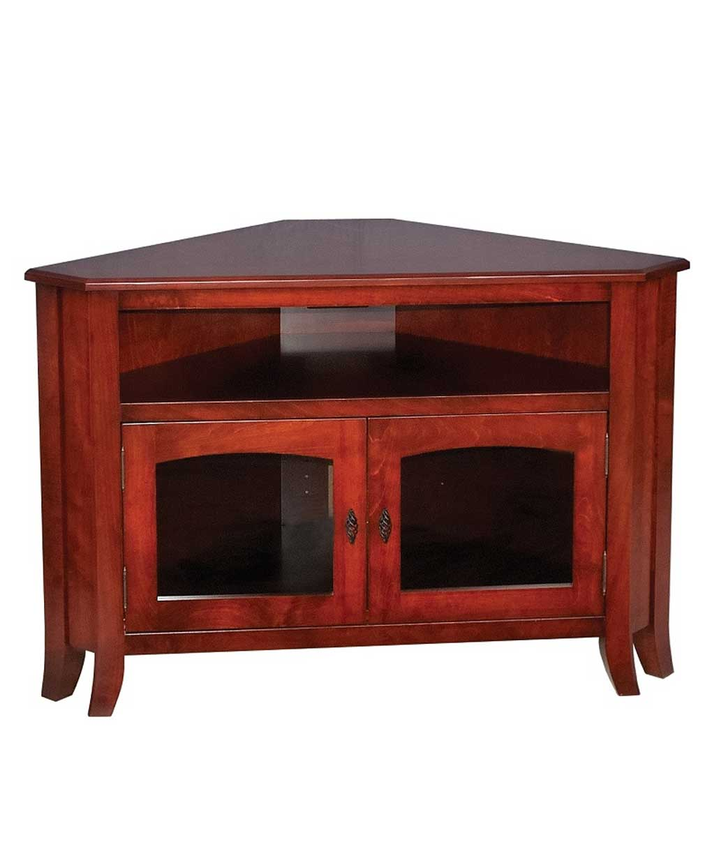 Young Mission Style 32 Corner Tv Stand Amish Direct
