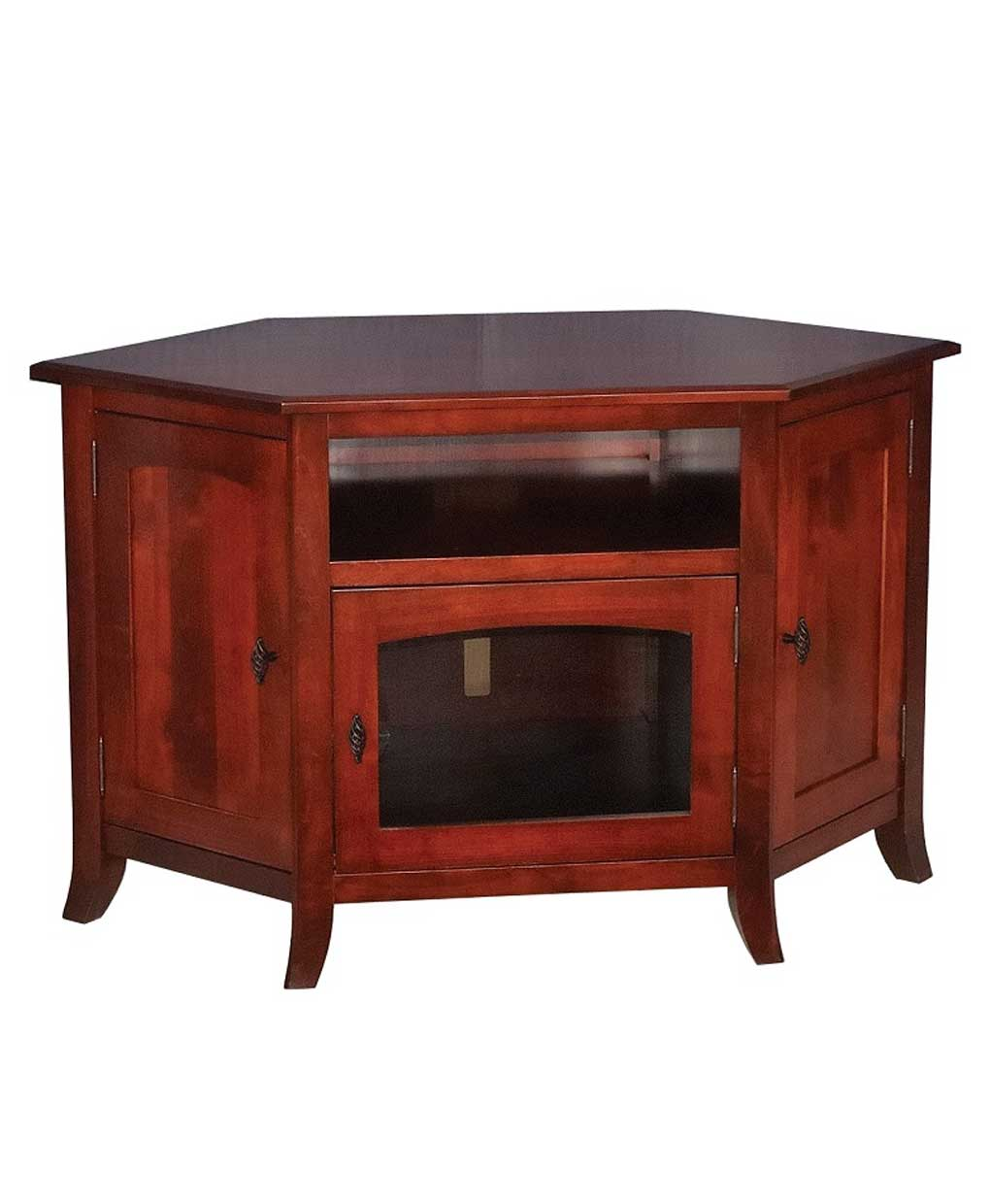 Young Mission Style 35 Corner Tv Stand Amish Direct