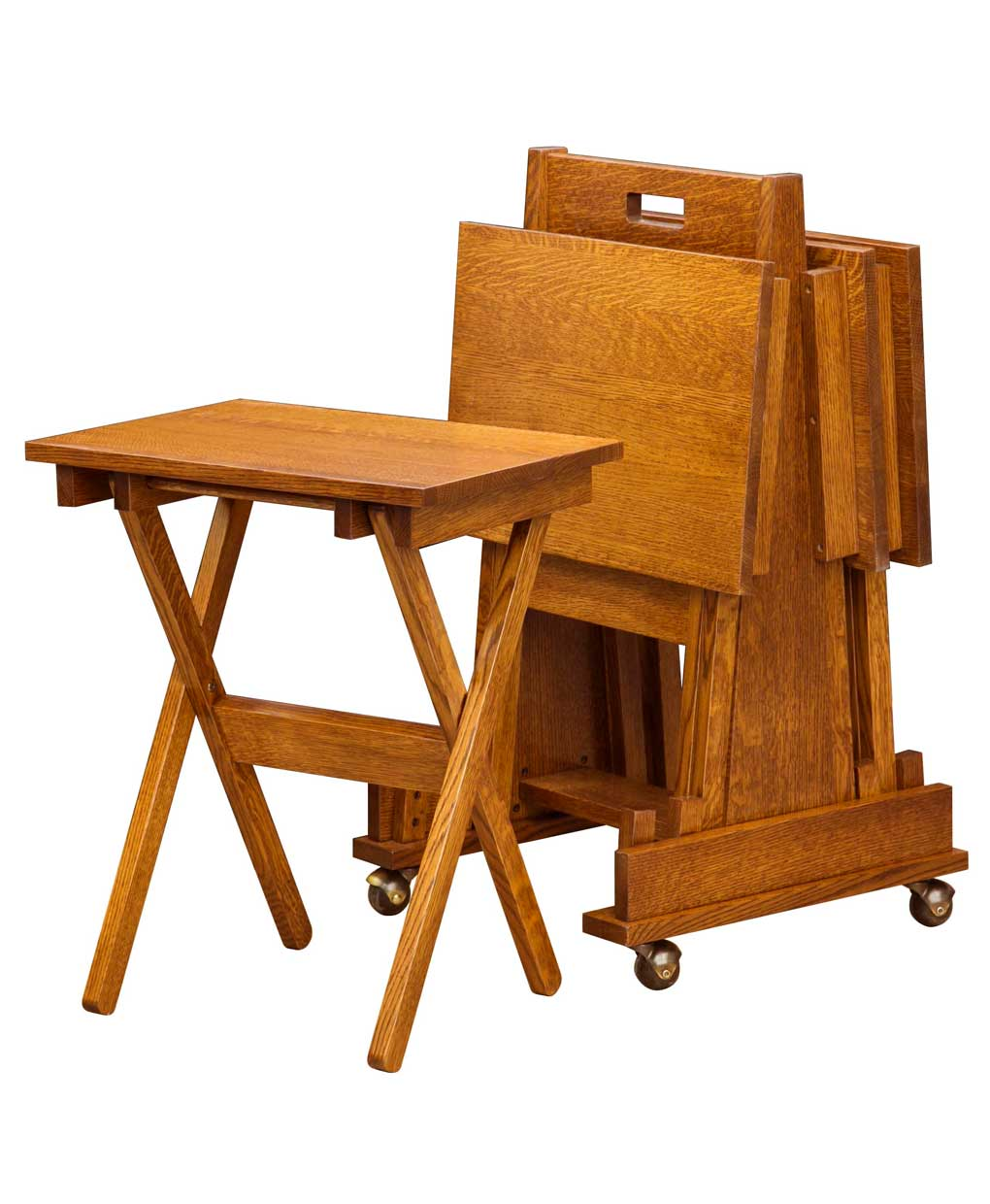 Mission Folding Tv Tray Set Amish Direct Furniture