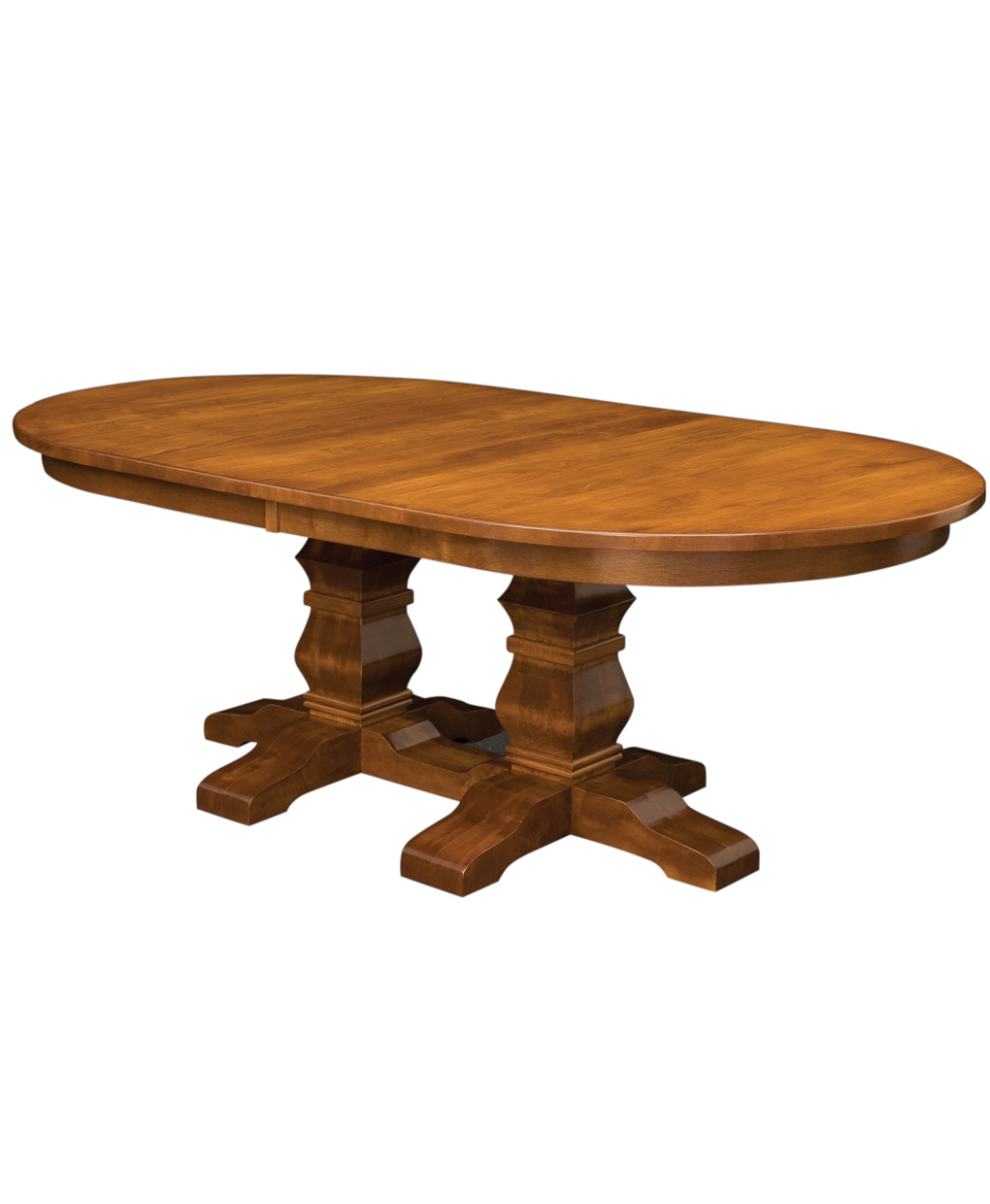 Bradbury double pedestal table amish direct furniture for Pedestal table