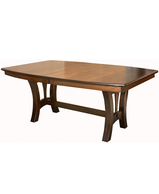 grand island trestle table amish direct furniture. Black Bedroom Furniture Sets. Home Design Ideas