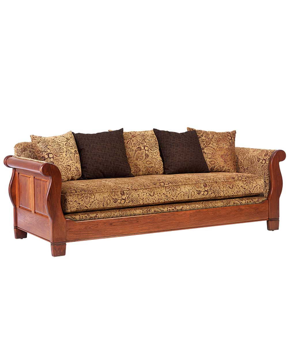 Sleigh Sofa on Amish Made Bedroom Furniture