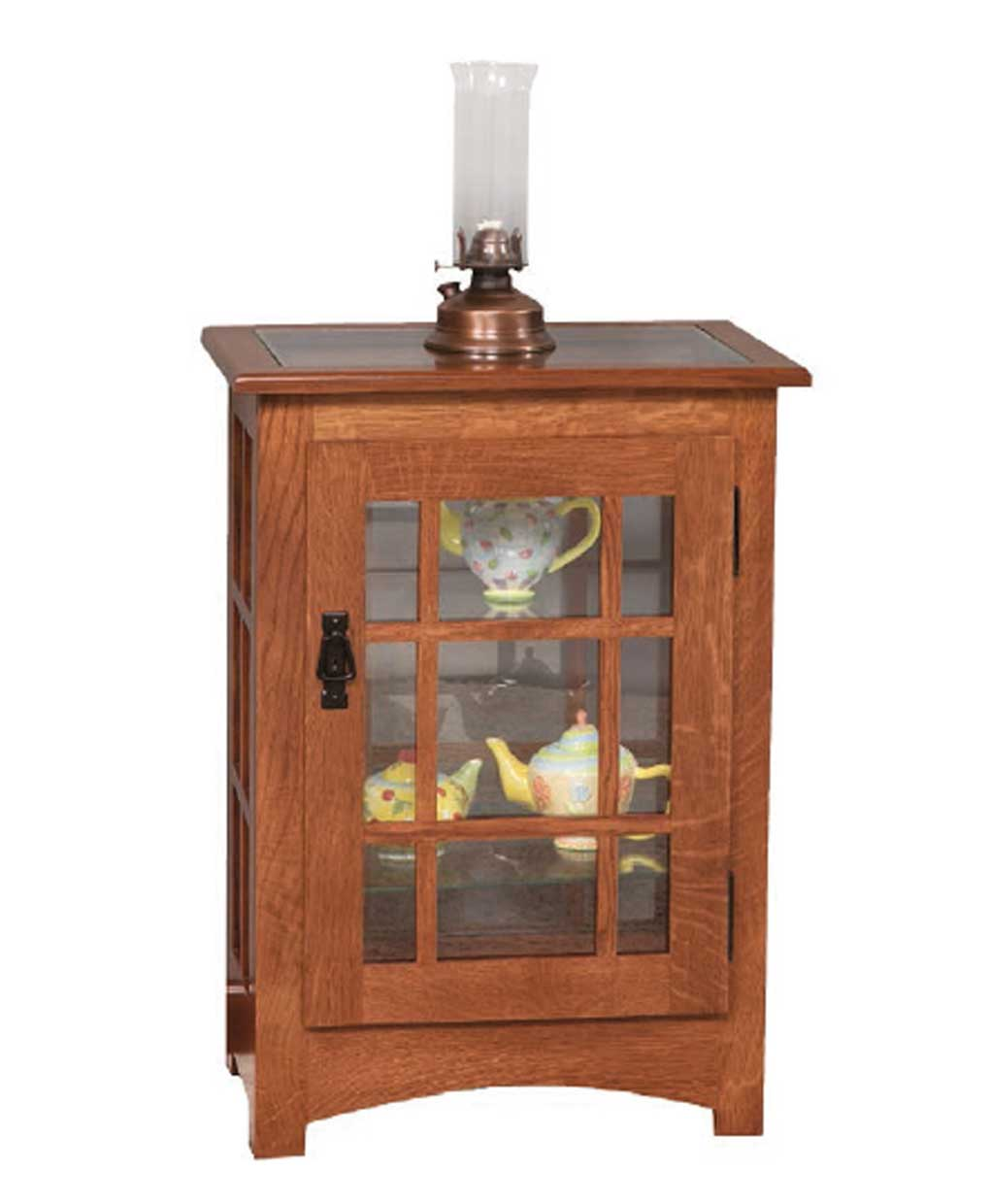 Mission Console End Table Curio Amish Direct Furniture