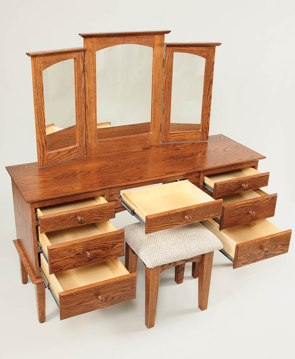 Shaker dressing table amish direct furniture for Vanity dressing table