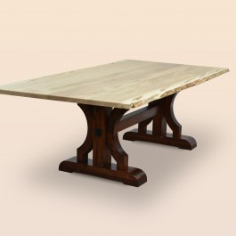 Barstow Dining Table with Live Edge