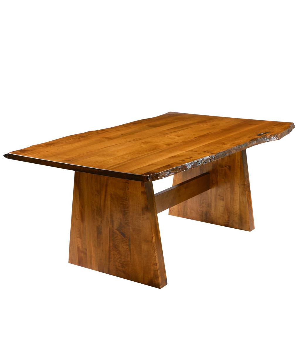 bayport dining table with live edge   amish direct furniture