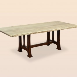 Custer Dining Table with Live Edge