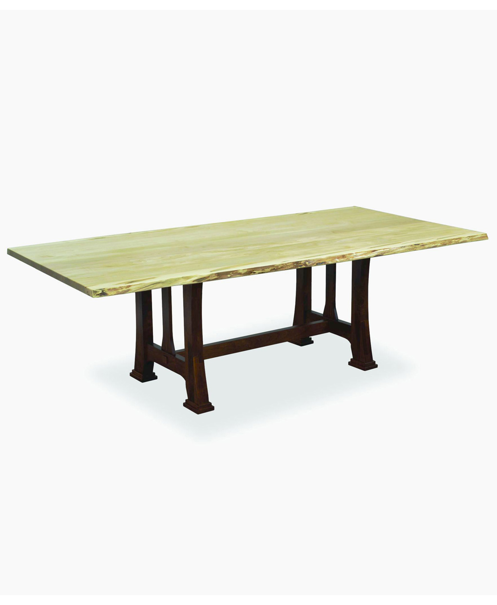 Shop Dining Table Live Edge Tables Custer Dining Table With Live Edge