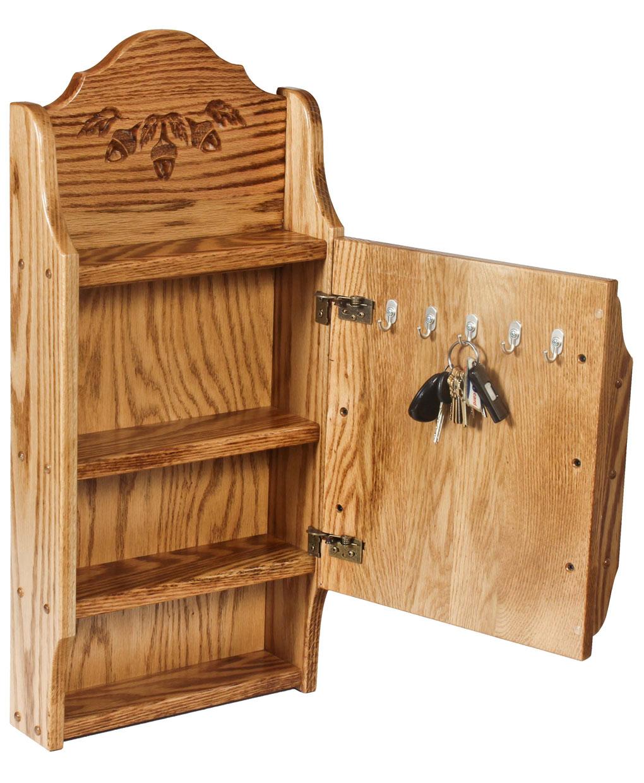 Letter Holder Key Cabinet Acorn Oak Amish Direct Furniture