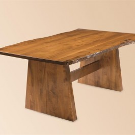 Bayport Dining Table with Live Edge