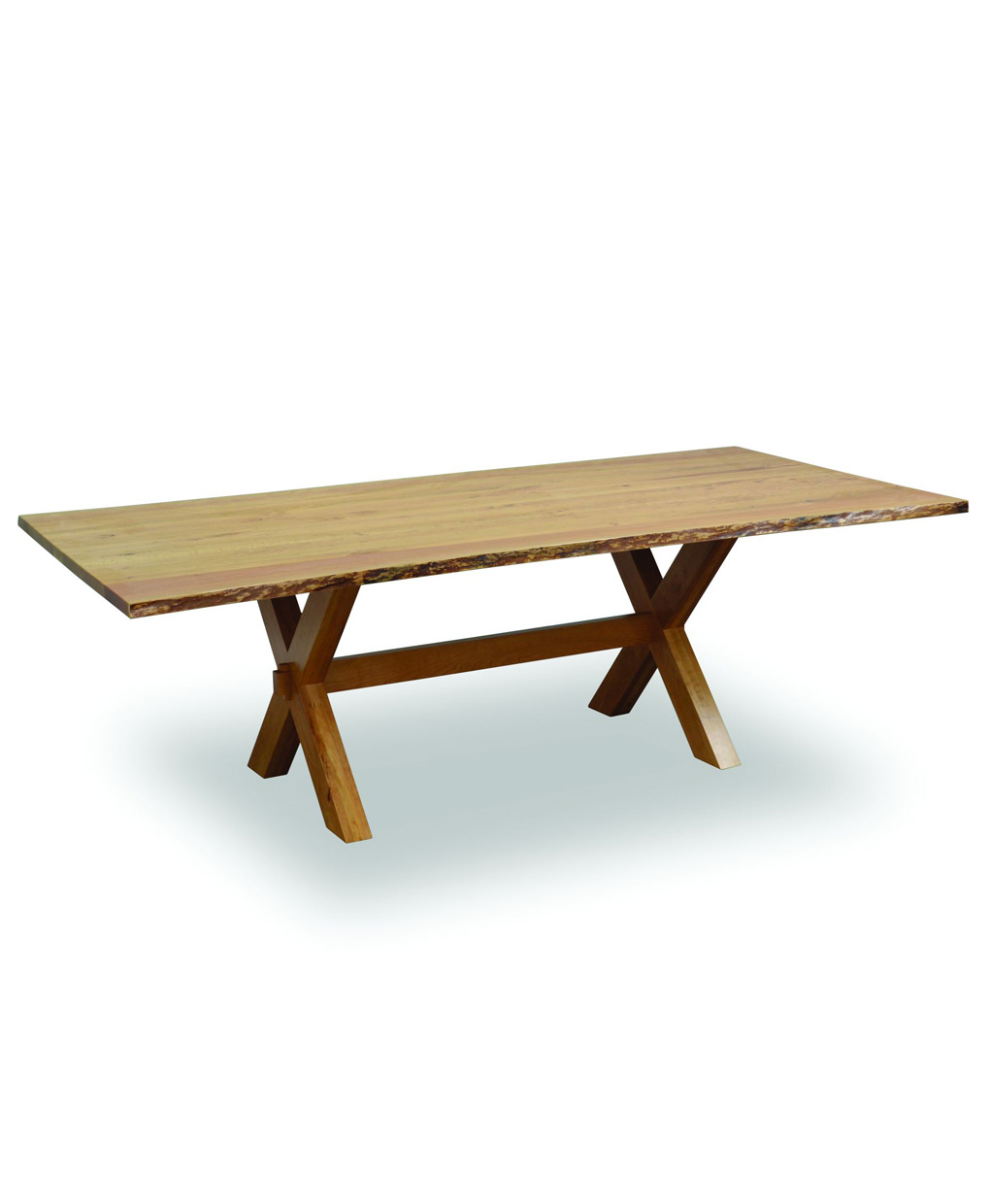 Poly Lumber Outdoor Furniture Frontier Dining Table with Live Edge - Amish Direct Furniture