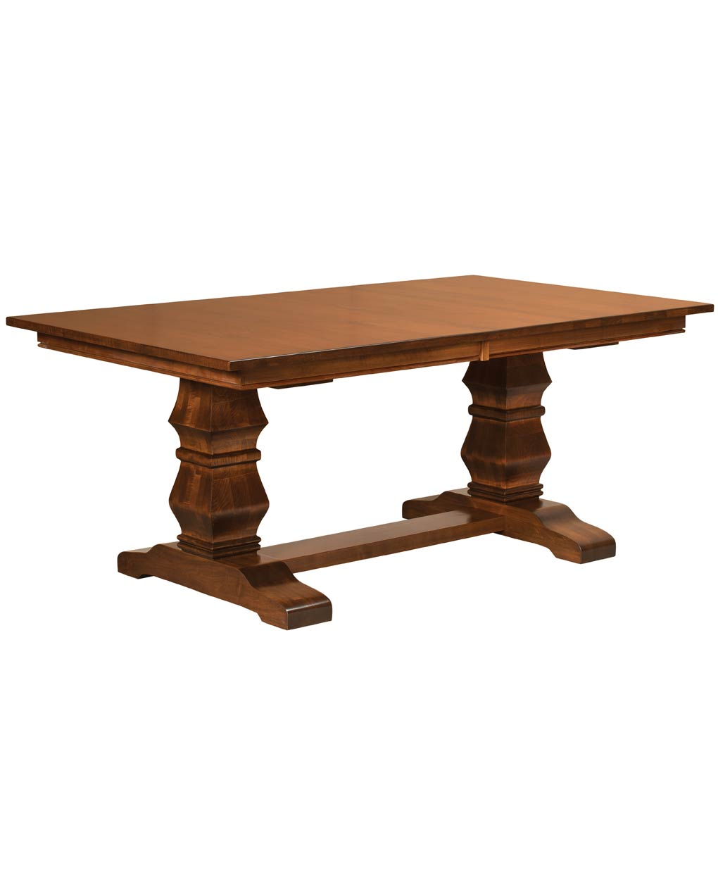 Bradbury trestle table amish direct furniture for Single leg dining table
