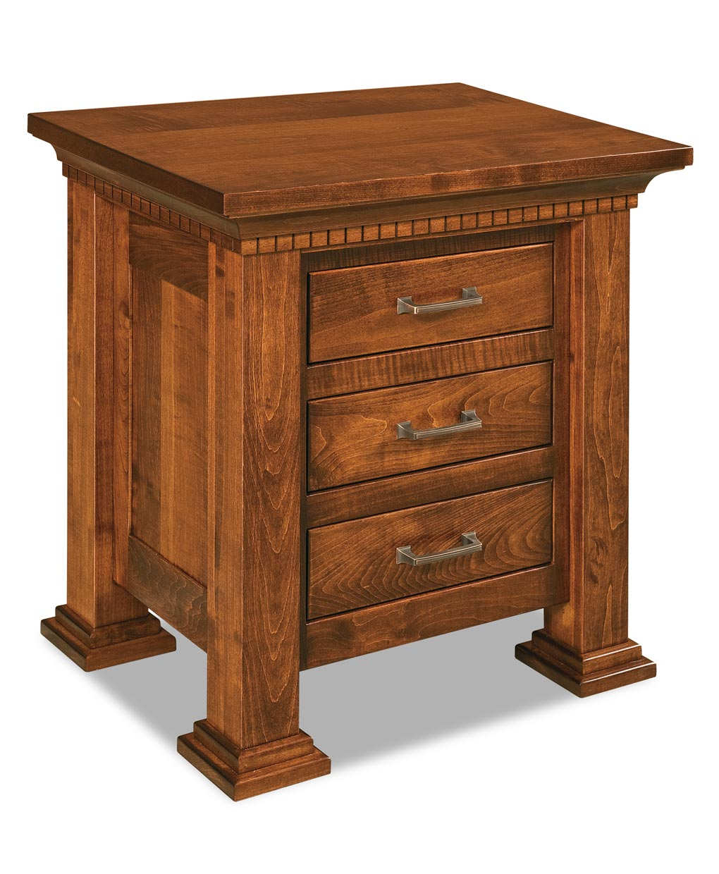 empire short 3 drawer nightstand amish direct furniture