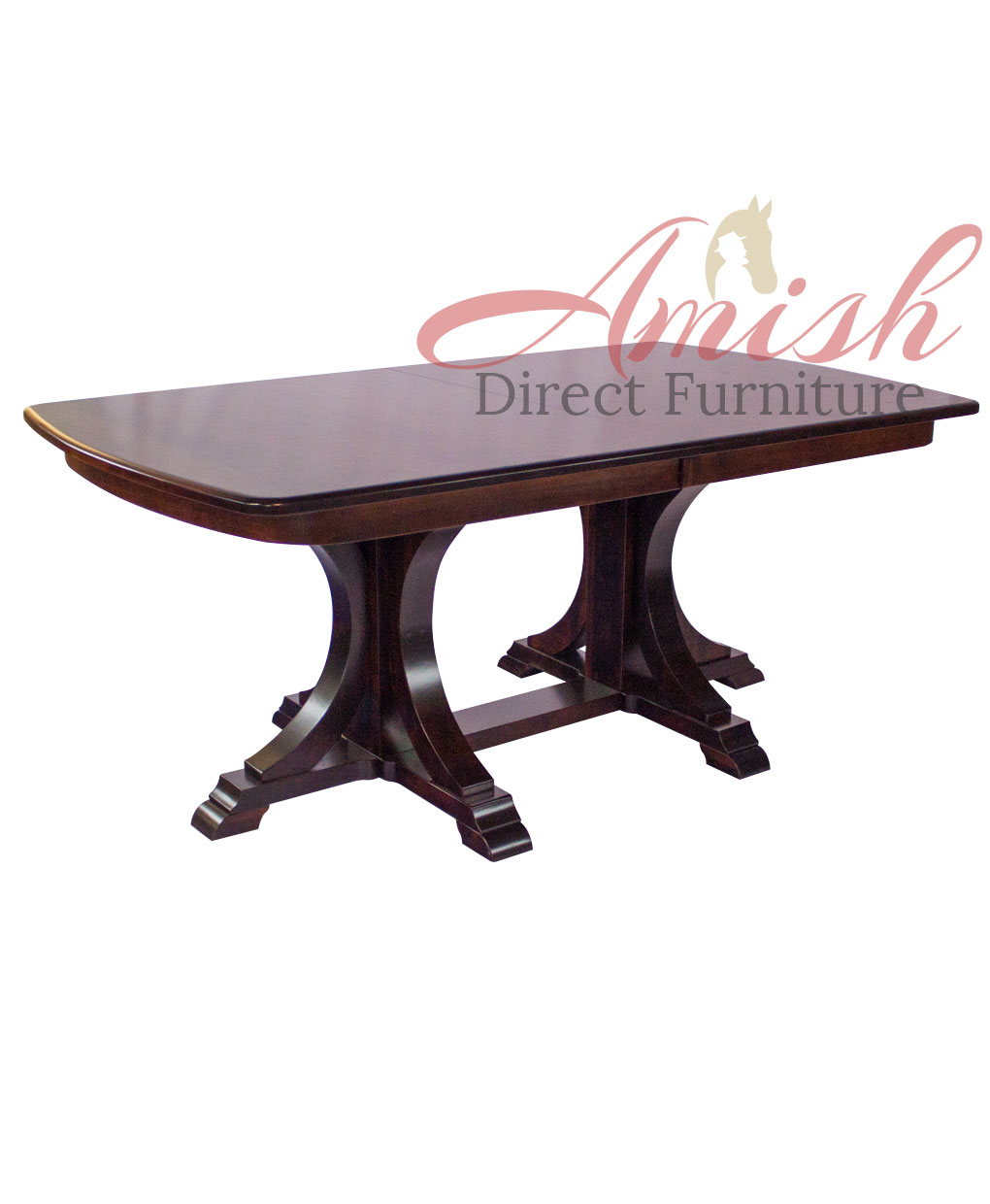 Buckeye Amish Double Pedestal Table