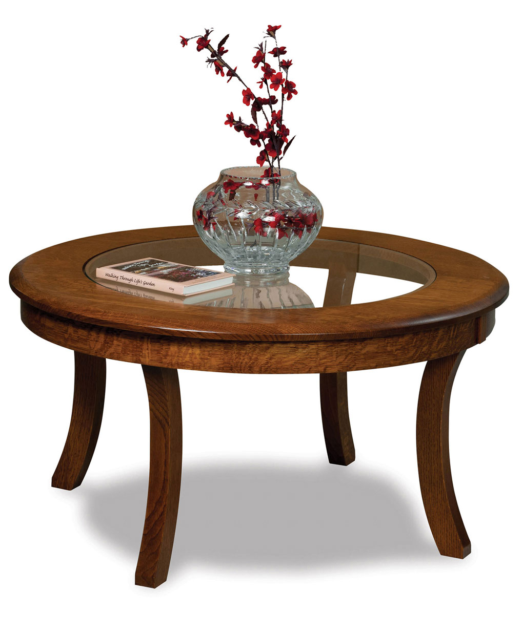Sierra glass top coffee table amish direct furniture for Glass topped coffee tables