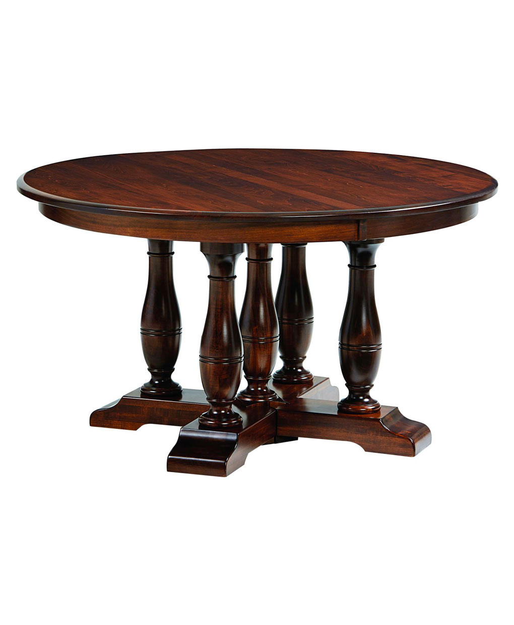 Westfield split pedestal table amish direct furniture for Pedestal table