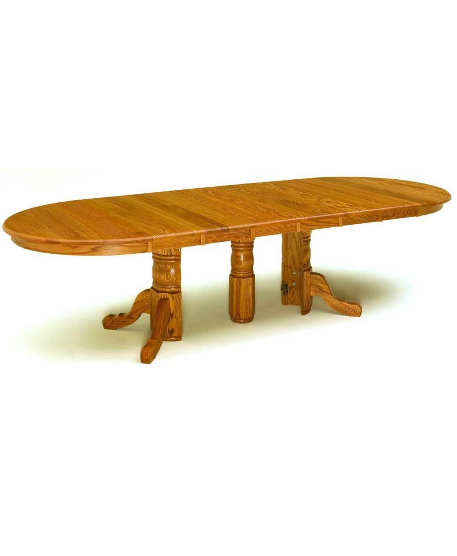 Split Pedestal Dining Table - Amish Direct Furniture