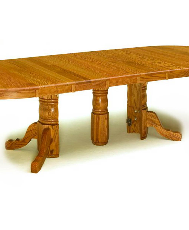 Split Pedestal Amish Table [Base]