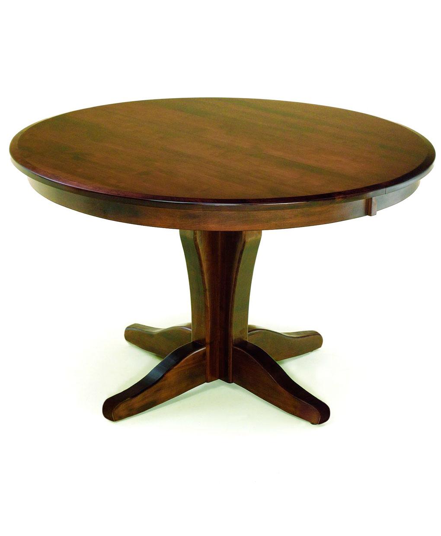 Vintage Amish Single Pedestal Table
