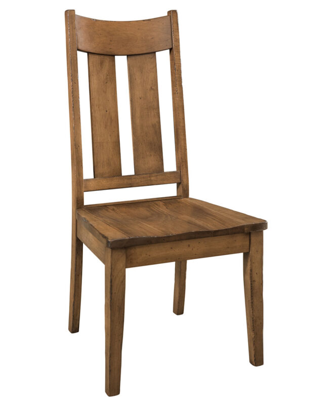 Aspen Dining Chair [Side Chair. Shown in Brown Maple with a Weathered Log Finish]