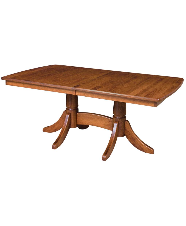 baytown double pedestal table amish direct furniture. Black Bedroom Furniture Sets. Home Design Ideas