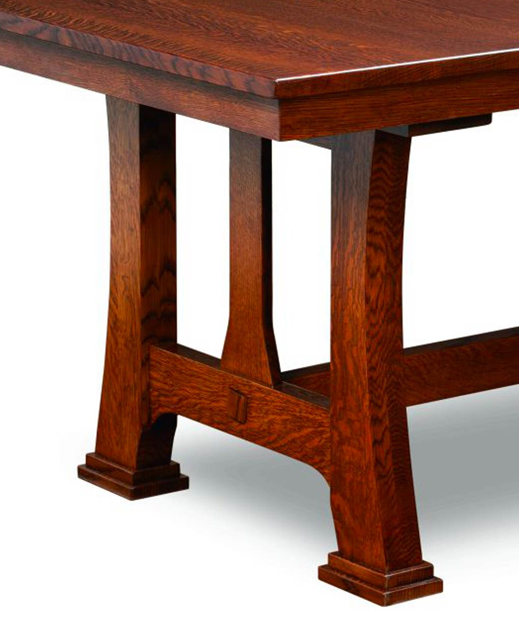 Custer Amish Trestle Dining Table [Base]