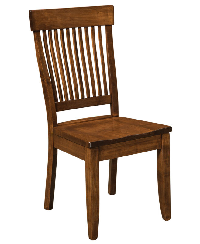 Jefferson Amish Dining Chair [Brown Maple Coffee stain / Side Chair]