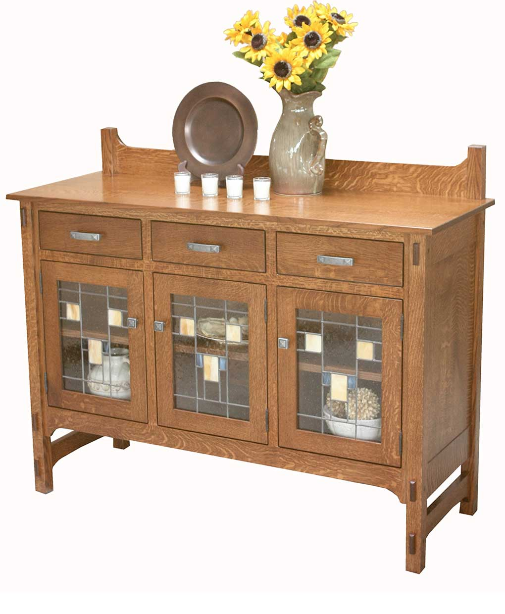 Glenwood sideboard glass front amish direct furniture for Sideboard glasfront