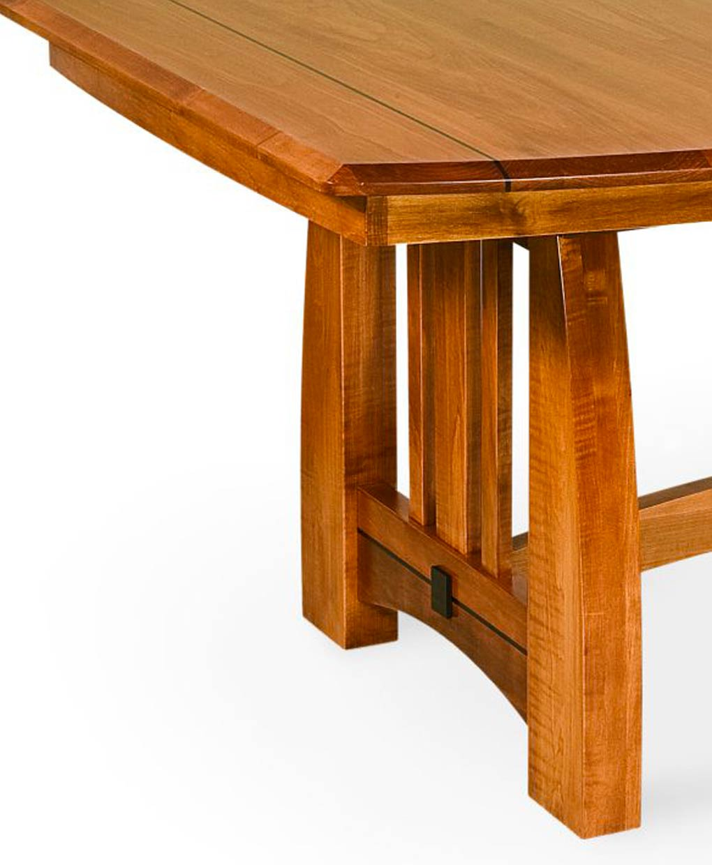 Henderson Amish Trestle Table Side And Top Detail