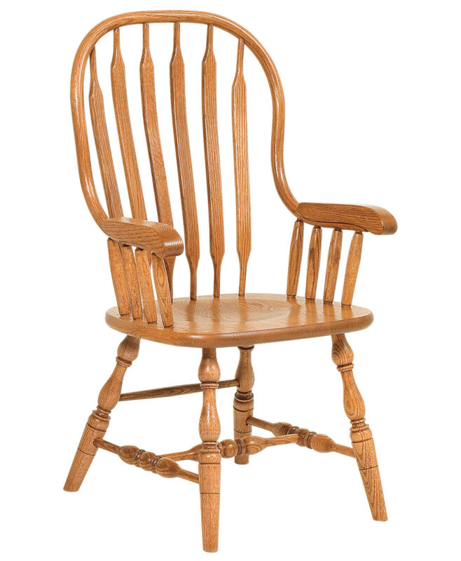 Jumbo Bent Paddle Amish dining chair [Arm]