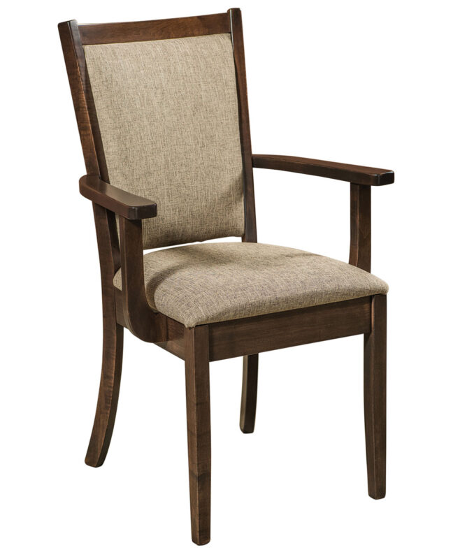 Kalispel Amish Dining Chair [Arm / Brown Maple with Kona stain]