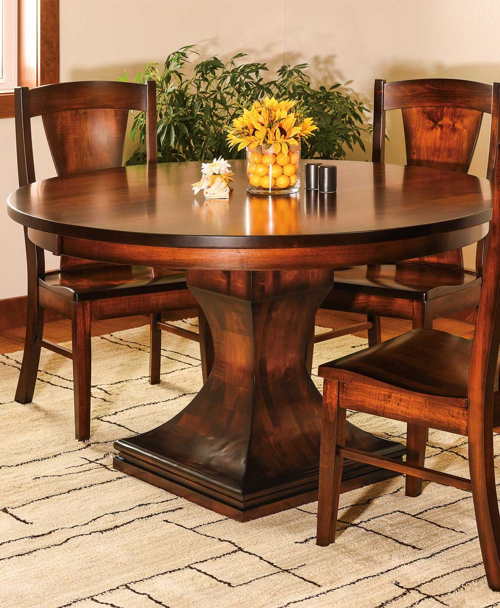 Westin Single Pedestal Dining Table Amish Direct Furniture