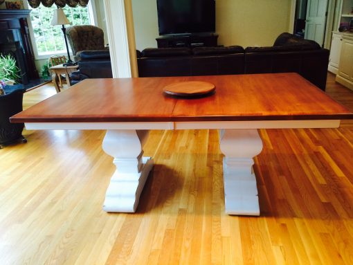 Wilmington Amish Trestle Table [Two Tone / Customer / Amish Direct Furniture]