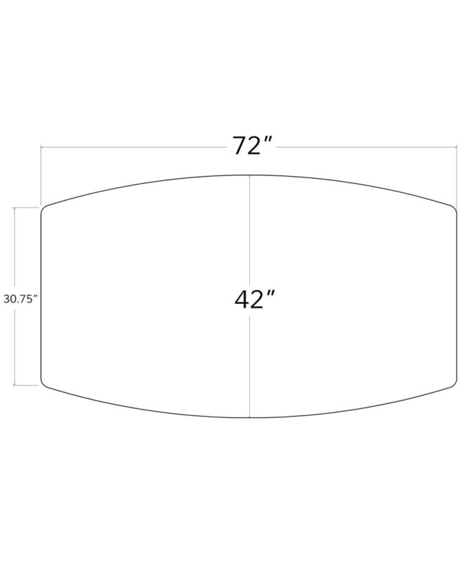 Colebrook Trestle Table [Dimensions of Table Shape]