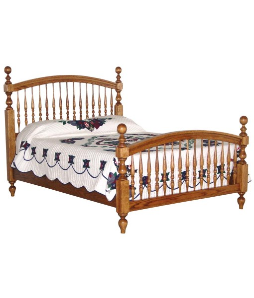 Bow Spindle Amish Bed [096]