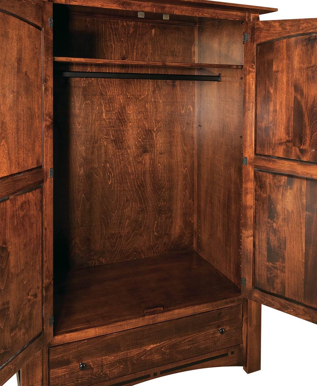 Boulder Creek Wardrobe Armoire - Amish Direct Furniture