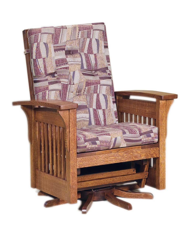 Bow Arm Slat Glider Swivel Amish Direct Furniture