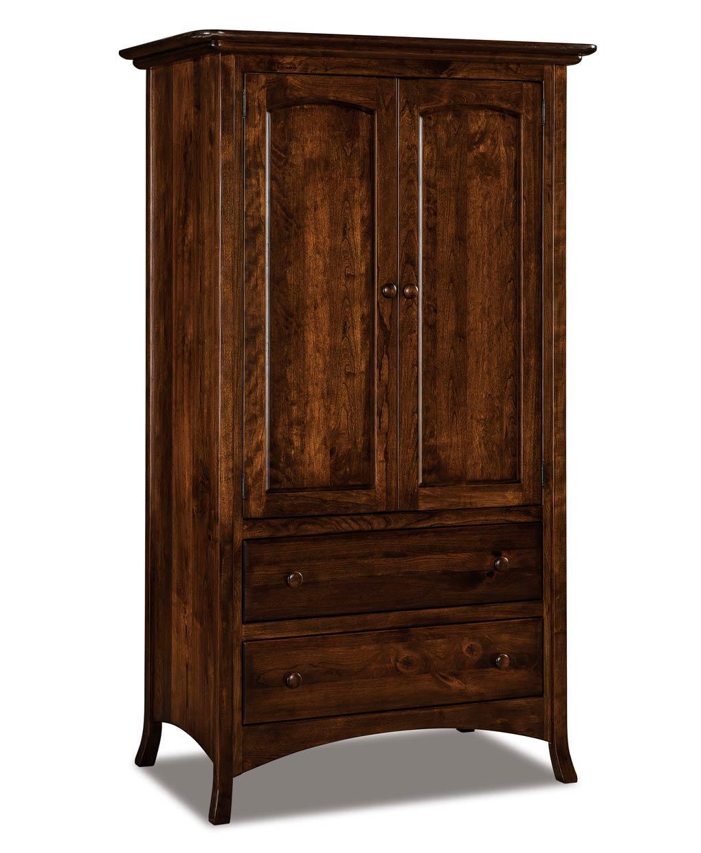 carlisle 2 piece 2 drawer armoire amish direct furniture. Black Bedroom Furniture Sets. Home Design Ideas