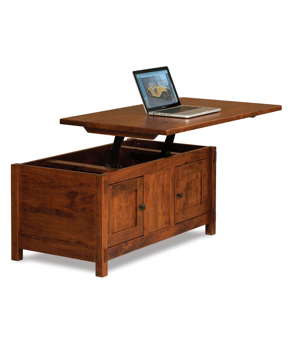 Centennial enclosed coffee table with lift top amish direct centennial collection geotapseo Gallery