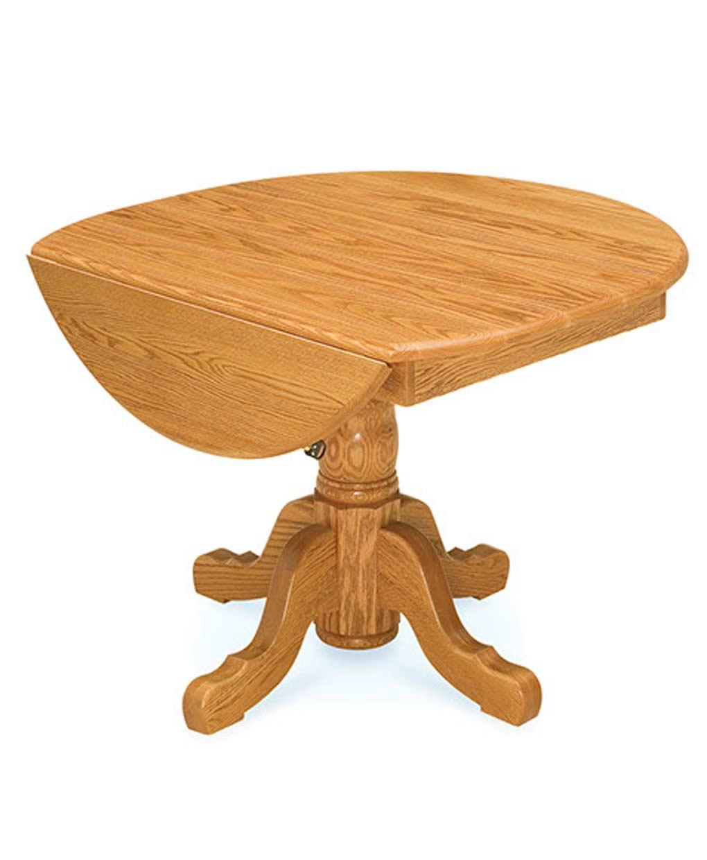 Amish Drop Leaf Pedestal Table