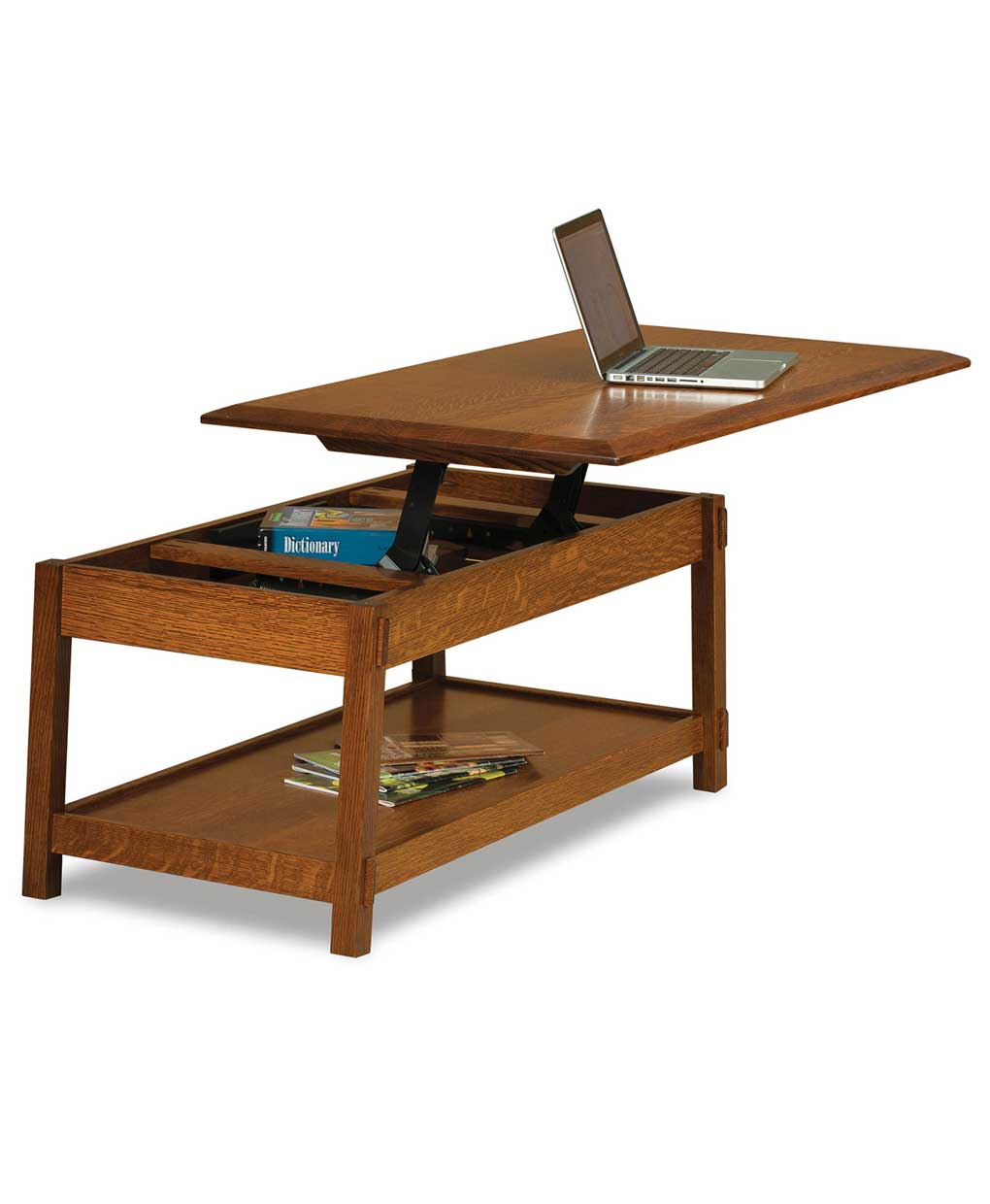 Colbran Open Coffee Table With Lift Top Amish Direct Furniture