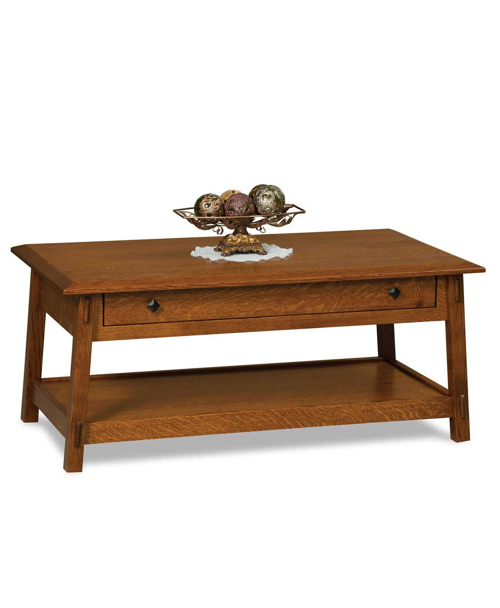Letterpress Tray Coffee Table: Colbran Open Coffee Table With Drawer