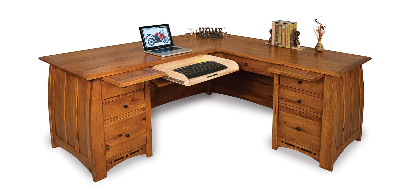 Boulder Creek L Desk Amish Direct Furniture