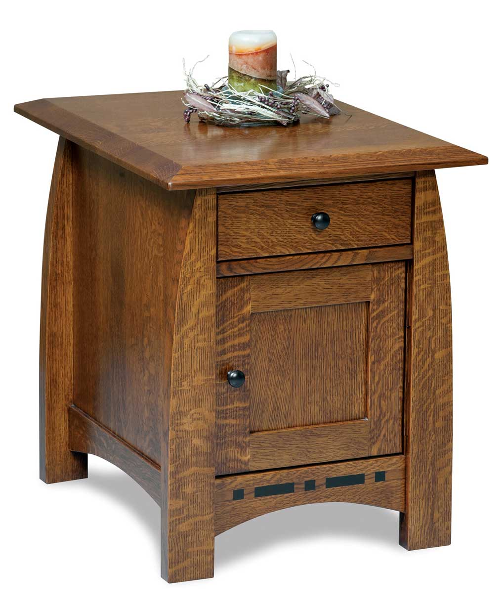 Boulder Creek Enclosed End Table Amish Direct Furniture