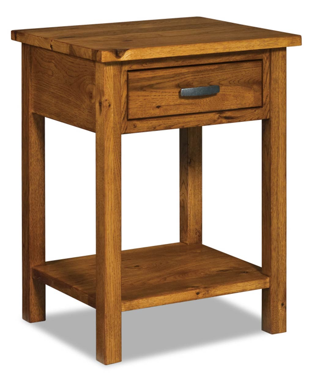 Flush Mission 1 Drawer Open Nightstand Amish Direct