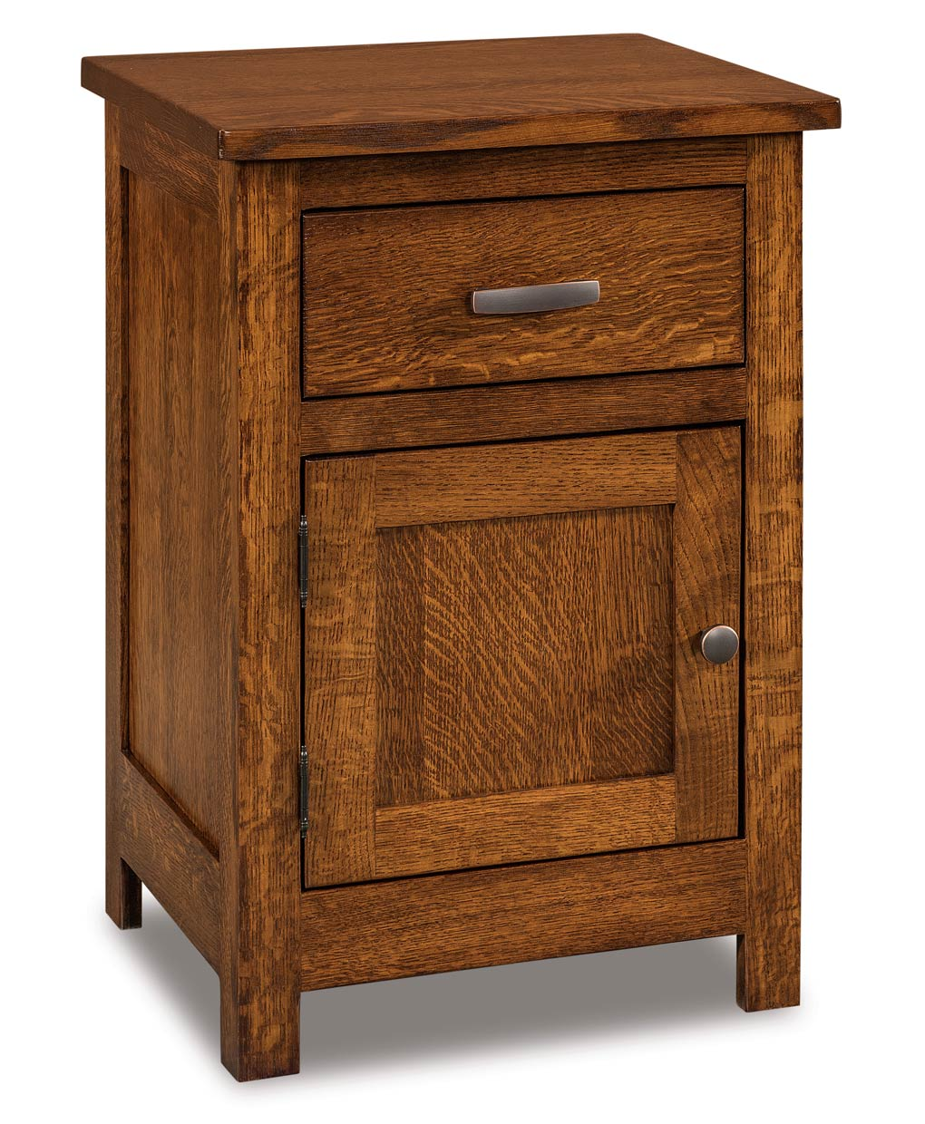 Flush Mission 1 Drawer 1 Door Nightstand Amish Direct