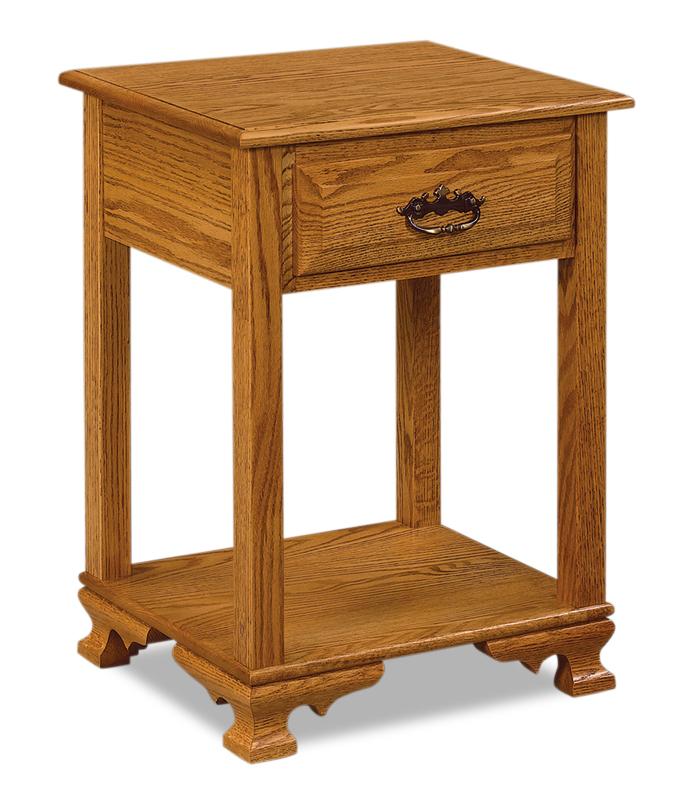 Hoosier Heritage 1 Drawer Open Nightstand