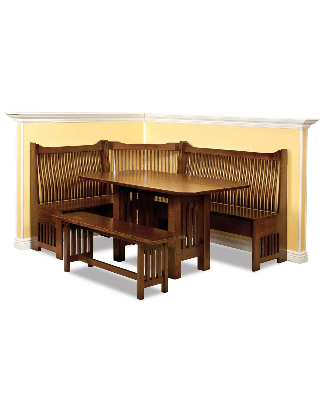 Mission Corner Nook Amish Direct Furniture