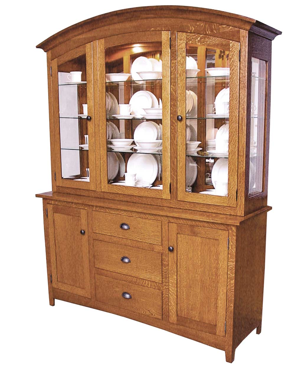 Amish Style Kitchen Cabinets: Old Century Mission Hutch