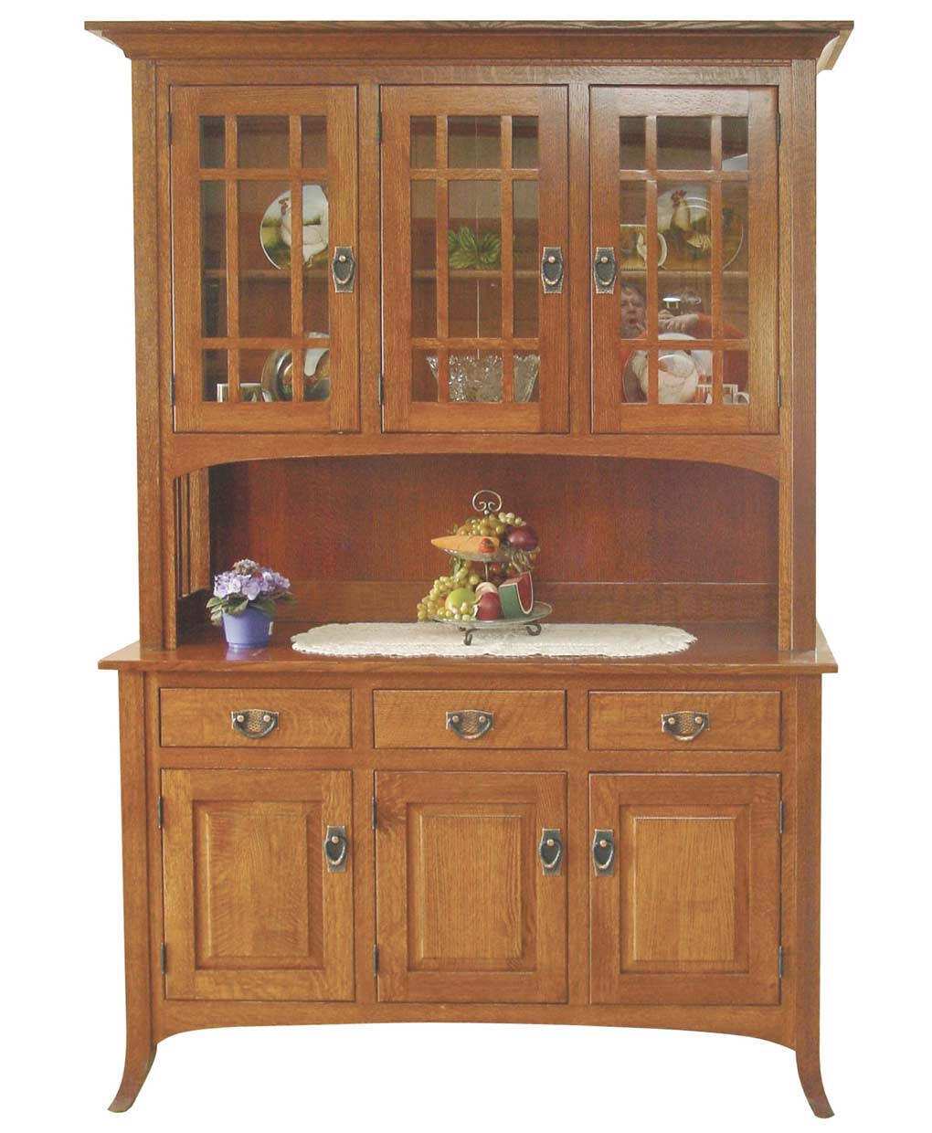 Open Mission Hutch Amish Direct Furniture